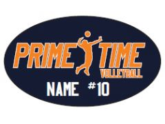 Prime Time Volleyball Custom Decal (Name & Number included in price)