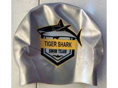 URBANA TIGER SHARKS SILICONE SWIM CAP